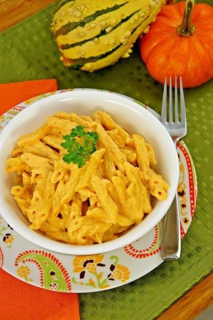 Pasta Recipe : Pasta with Creamy Pumpkin Sauce : Pasta Recipe