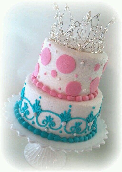 Tiara princess birthday cake!  Izzy  Pinterest