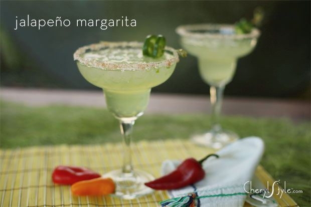 spicy margarita with jalapeños