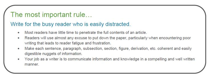 Rules for academic writing