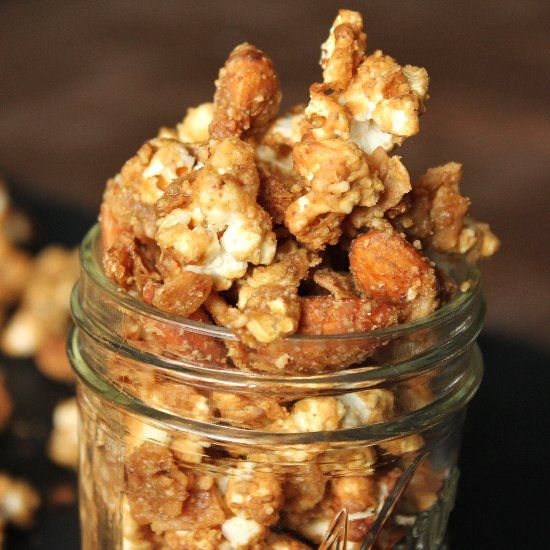 ... toasted coconut, almonds, and tossed in an maple vanilla almond glaze