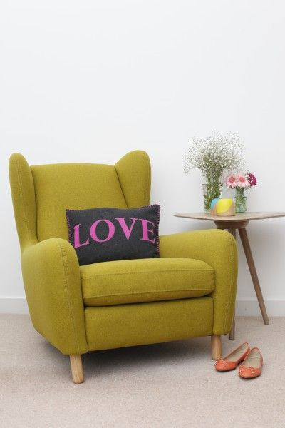 Feeling the love with the tri side table and the ruben armchair on