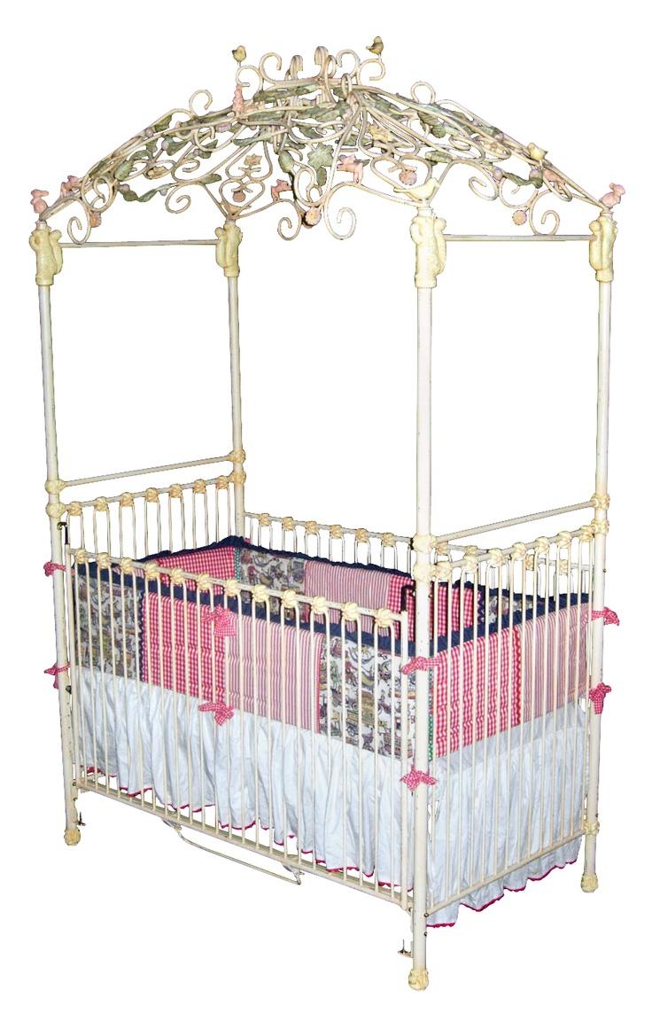 Aurora iron canopy crib for White canopy crib