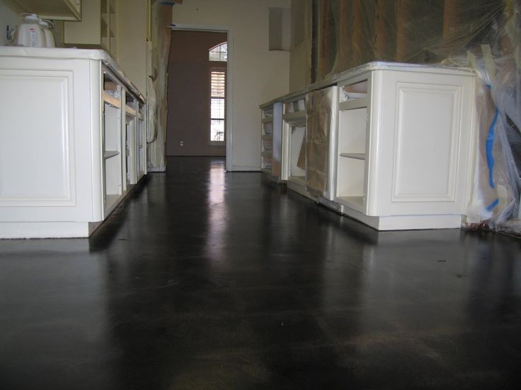 Dark Floors White Cabinets Brown Wall Build A House Pinterest