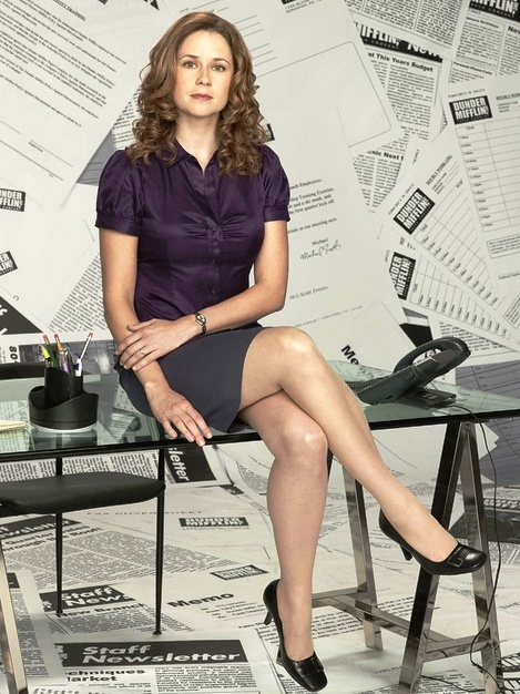 How paraphrase? Jenna fischer as pam are mistaken