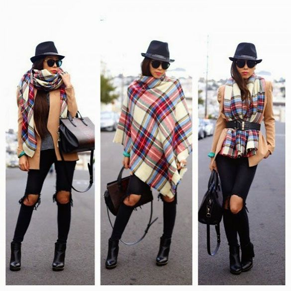 BLANKET SCARF THREE WAYS