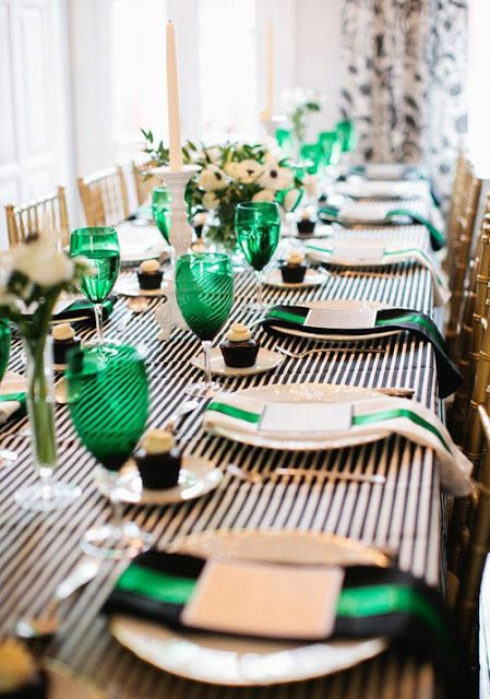 Emerald interiors table setting