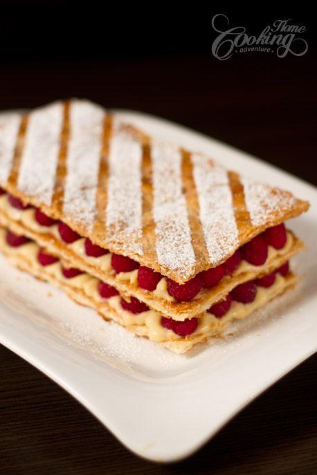 Raspberry Mille Feuille (Napoleon) | Delicious! | Pinterest