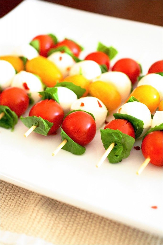 caprese skewers | recipes | Pinterest