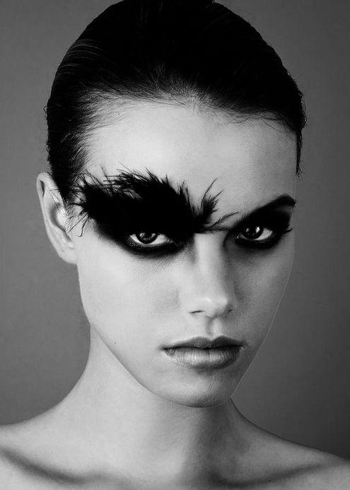 halloween costume idea black swan makeup halloween makeup pinterest. Black Bedroom Furniture Sets. Home Design Ideas