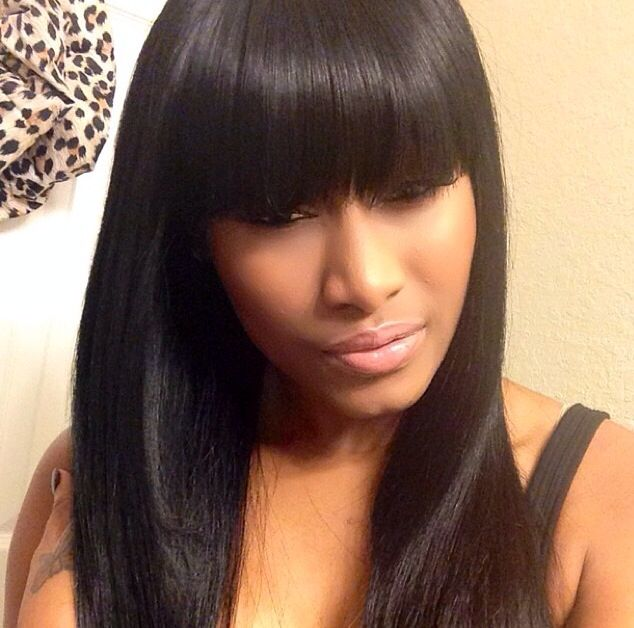 Sew in with Chinese Bangs