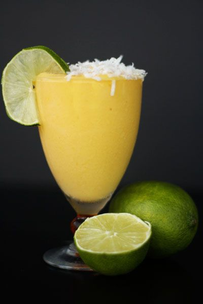 Mango coconut daiquiri. | They don't call em cocktails for nothin | P ...