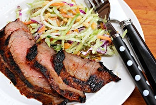 Spicy Asian Grilled Sesame-Soy Flank Steak