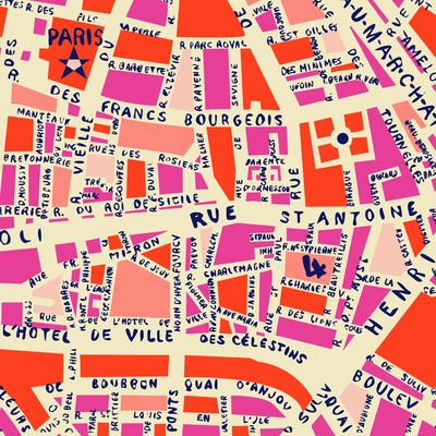 Paris map art print   Society6