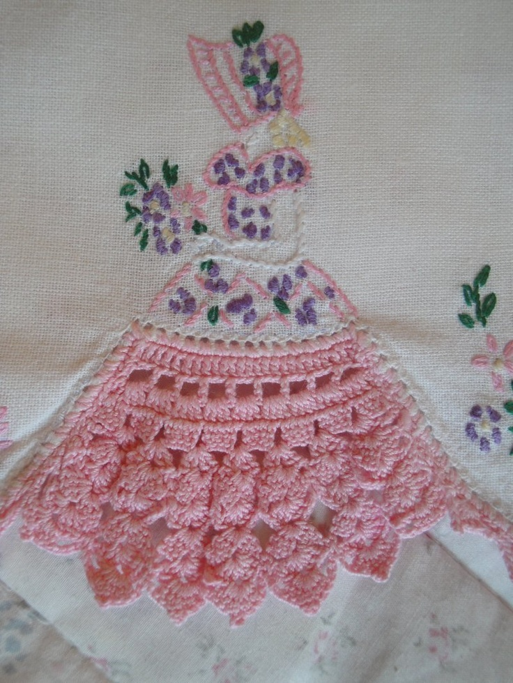 Southern Belle Embroidery Crochet  Crinoline Ladies
