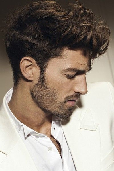 Medium Layered at the top hairstyle for men