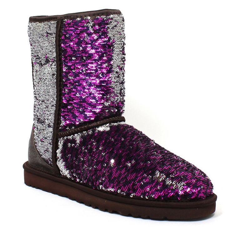 purple glitter ugg boots