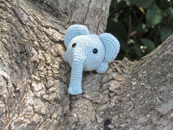 Knit Amigurumi Elephant : Easy Crocheted elephant toy Pattern, Hand Knit PDF Pattern ...