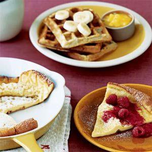 Baked Sunday Pancake with Raspberry Sauce | Recipe