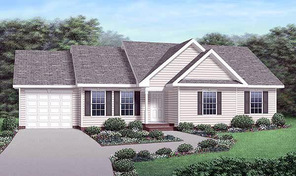 Ranch traditional house plan 45292 for Traditional ranch house