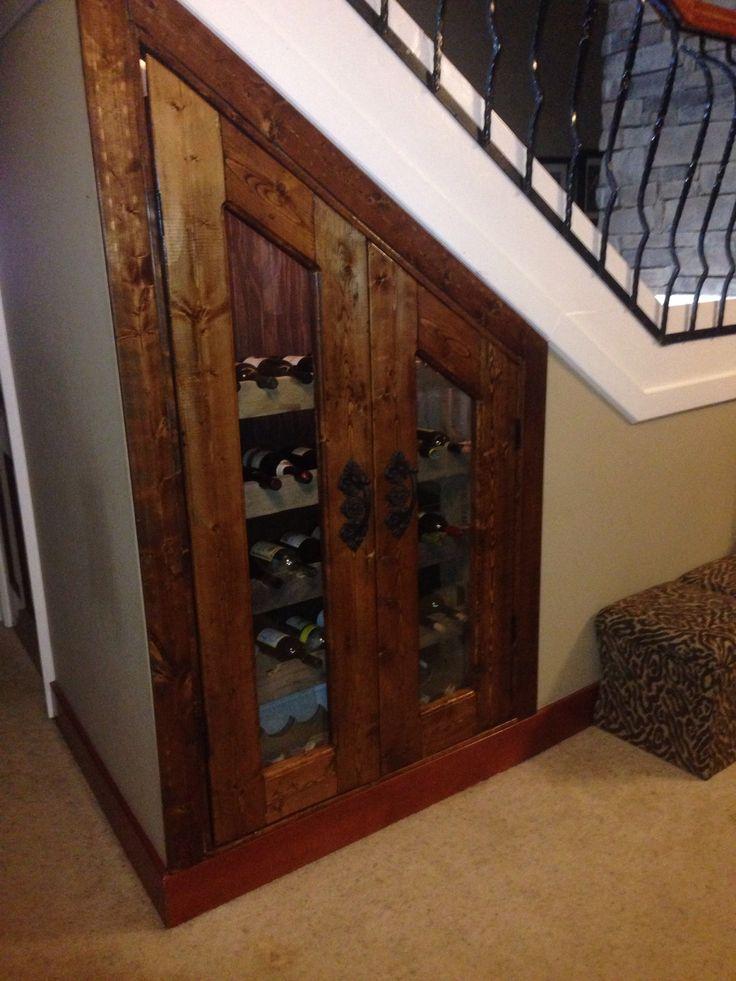 Under the stairs Wine Closet Wine Pinterest