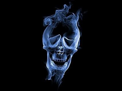 Cool blue skull scary and cool stuff pinterest