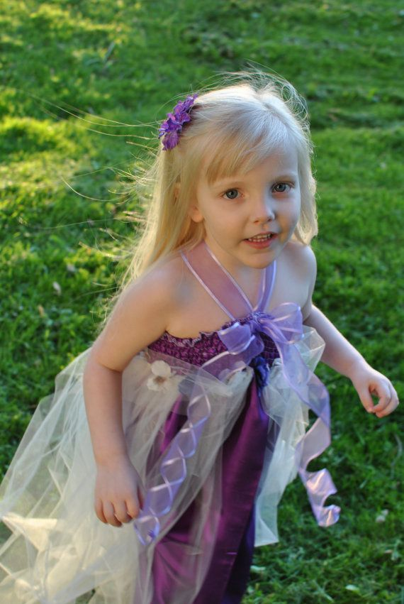 Purple pansies princess tutu dress halloween dress up pinterest