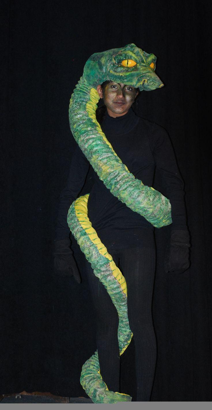 Костюм змеи для девочки своими руками фото