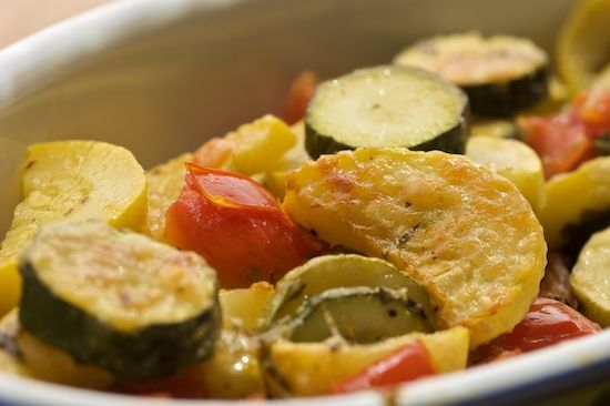 Just slightly spicy Zucchini and Tomato Gratin!