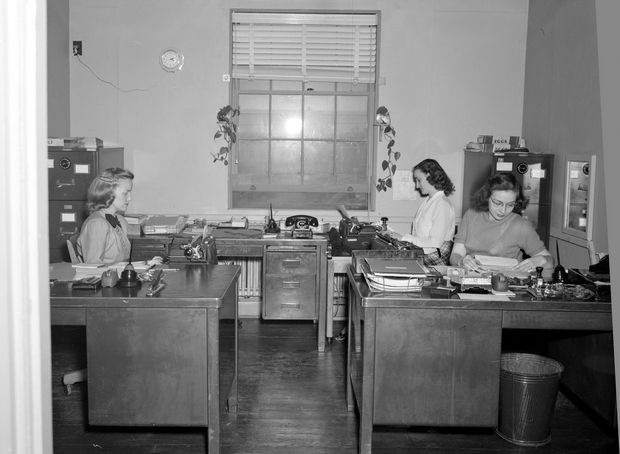 Crowded office space. | Manhattan Project | Pinterest