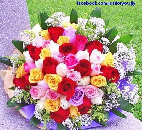 Multi colored roses flowers bouquets pinterest for How to make multi colored flowers