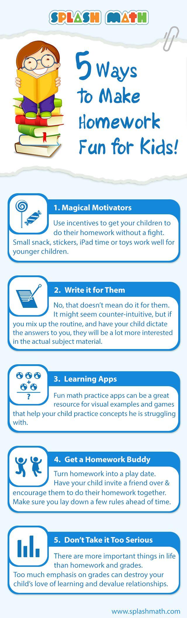 5 vías de hacer más divertidos los deberes en casa (Gustavo Martínez)