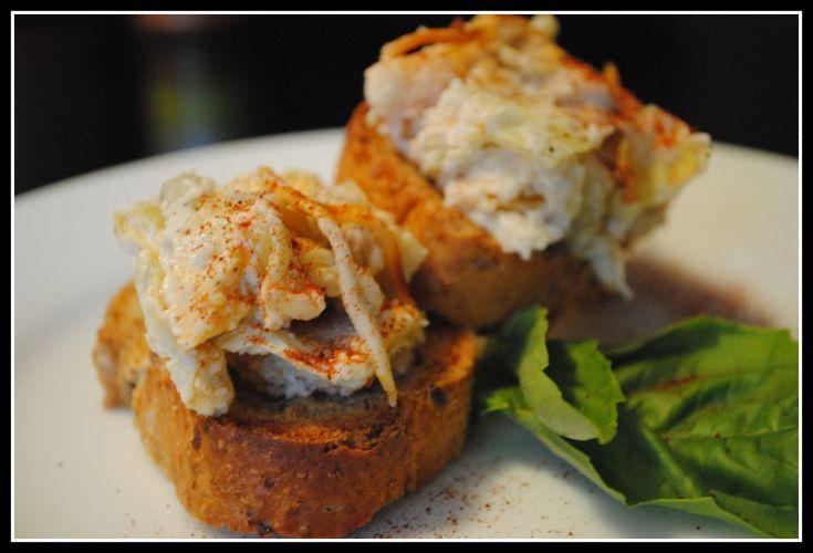 Cheesy Baked Artichoke Dip - This was really really good. I will ...