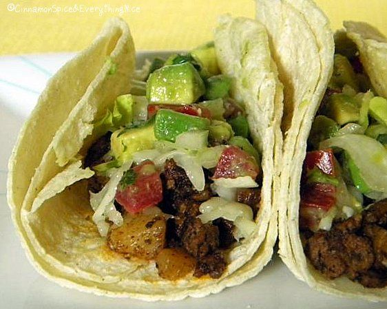 Potato & Beef Tacos. These were really yummy! I made them gluten free ...