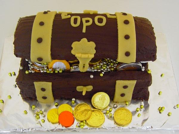Schatztruhe Torte Kindergeburtstag  Rezepte  Pinterest