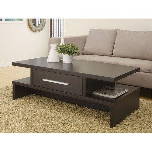 Hokku Designs Lark Rectangular One Drawer Coffee Table In Rich Matte
