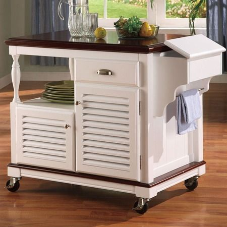 Portable Kitchen Cart On Wheels For The Home Pinterest