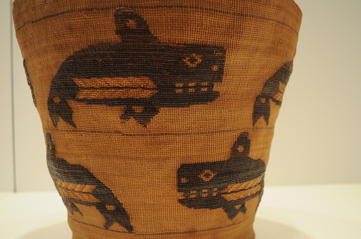 Tlingit Basket Ca 1900 With Orcas KILLER WHALES ORCAS