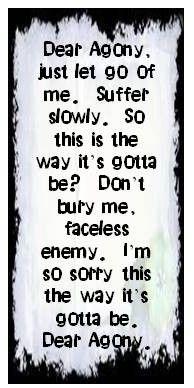 Breaking Benjamin - Dear Agony | LYRICS | Pinterest