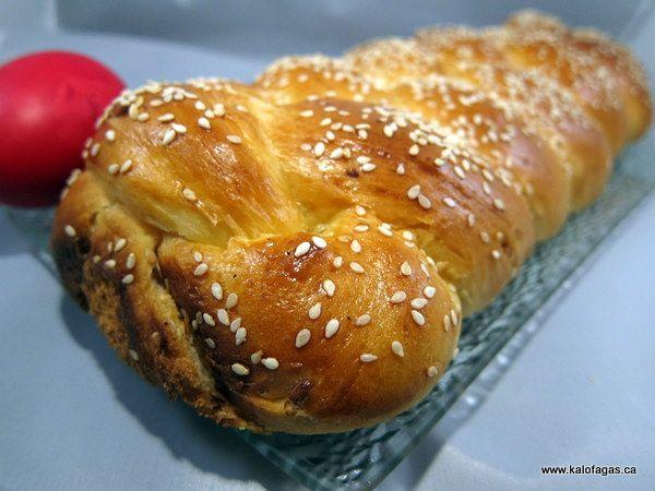 Tsoureki (Greek Easter Bread) | EASTER | Pinterest