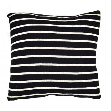 Navy And White Striped Throw Pillow : Knit Striped Navy and Cream Throw Pillow Blue + White - always perf?