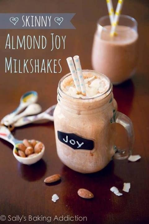 Skinny Almond Joy Milkshakes Ingredients: 2 medium bananas, peeled ...