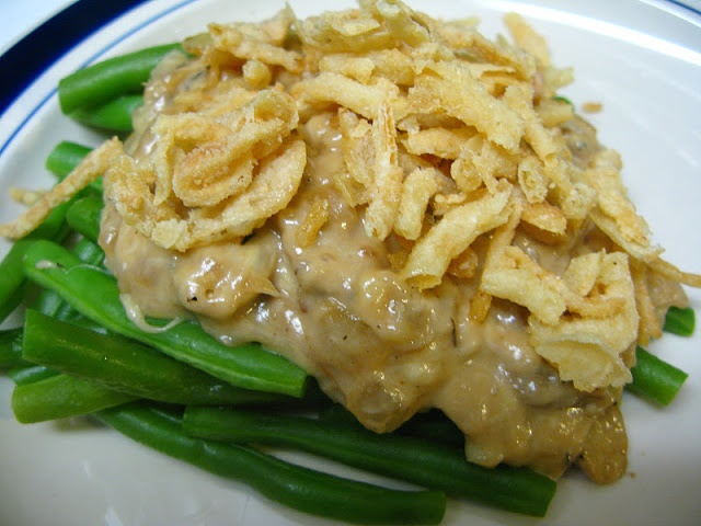 Believe I Can Fry: Deconstructed Green Bean Casserole (Vegetarian)