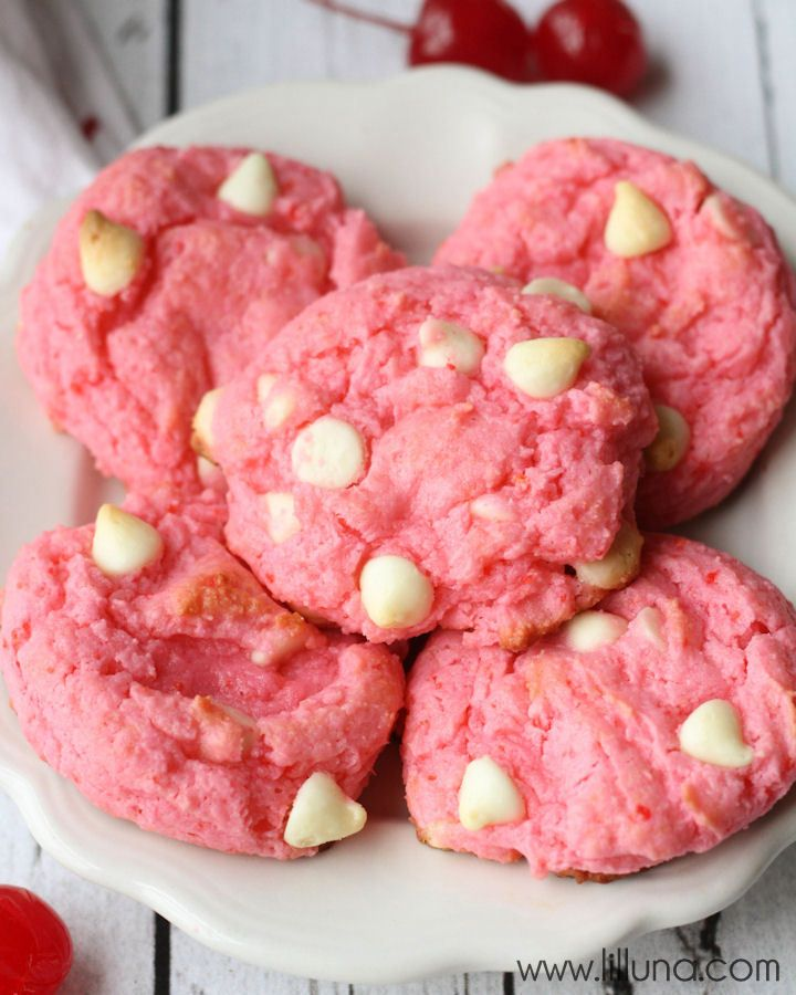 White Chocolate Cherry Chip Cookies - a great combo of white chocolate ...