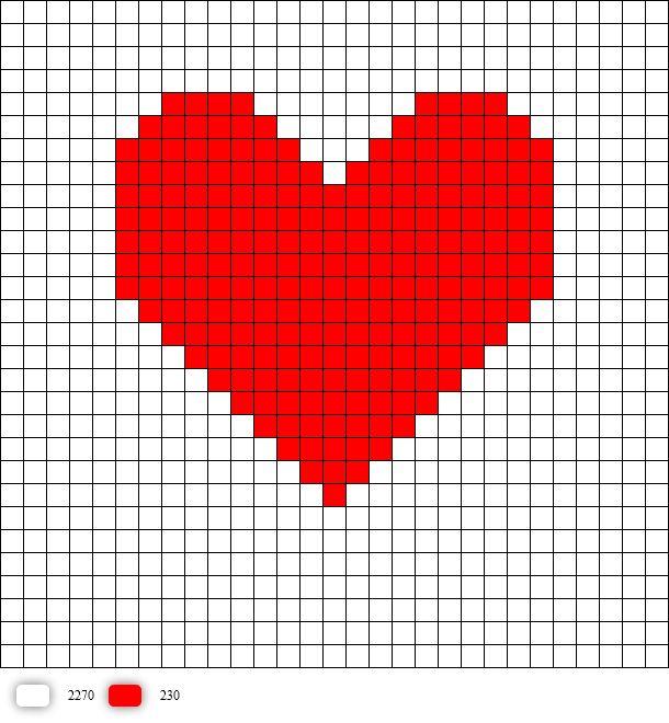 Heart pattern | Perler beads | Pinterest