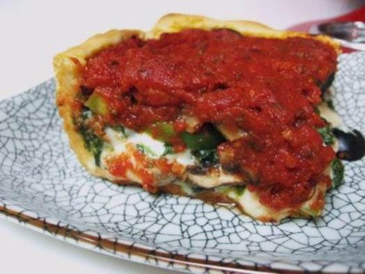 Deep-Dish Veggie Pizza | Recipes | Pinterest