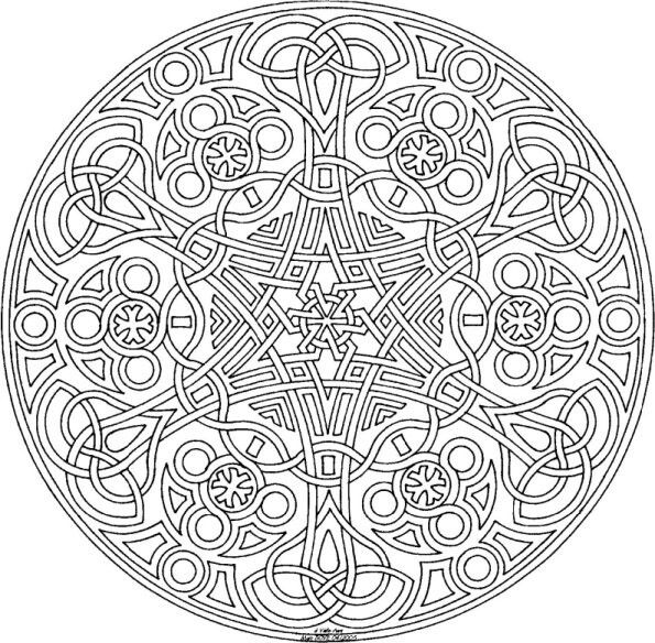 Celtic Mandala Adult Colouring Pinterest Celtic Mandala Coloring Pages