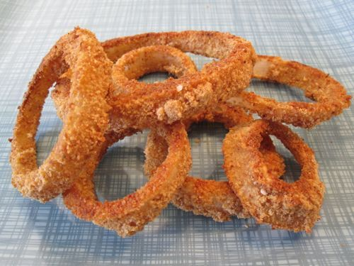 Crispy Onion Rings: 1 large sweet onion, buttermilk, salt, plain ...
