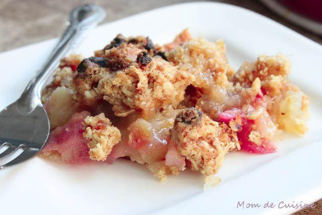 Rhubarb and Apple Crisp