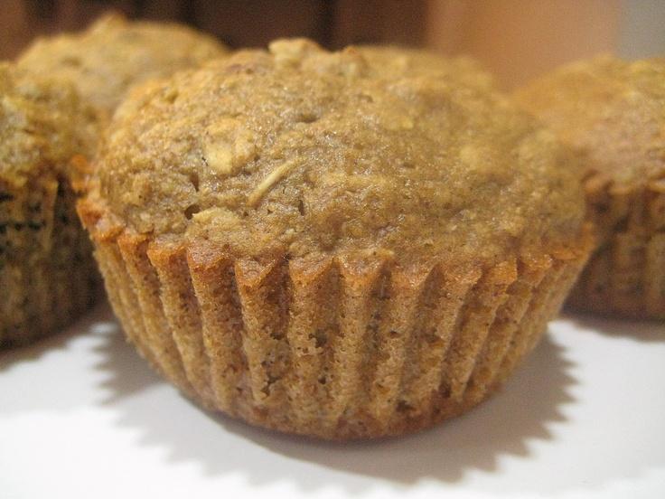 Applesauce Oatmeal Muffins   Bfast   Pinterest